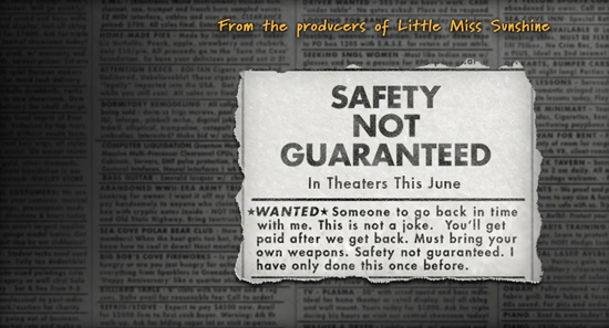 Reseña: 'Safety Not Guaranteed' (2011)